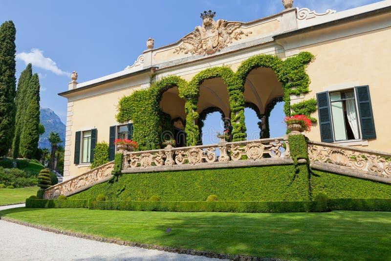 Villa del Balbianello på sjön Como, Lenno, Lombardia, Italien royaltyfria bilder