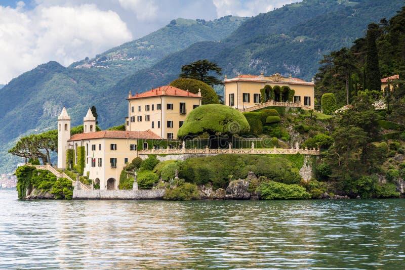 Villa Del Balbianello am See Como stockfotografie