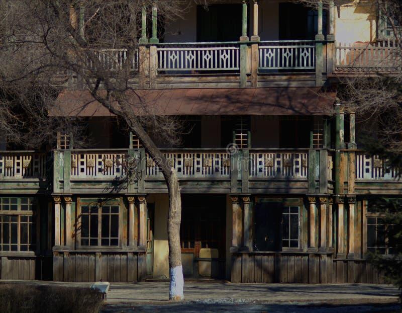 Villa del ` s della Cina vecchia dell'isola del sole di Harbin immagine stock libera da diritti
