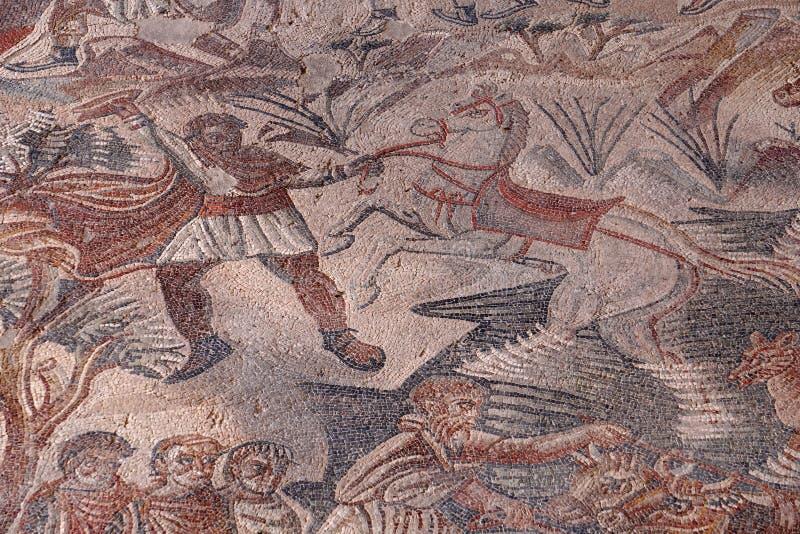 Villa del Tellaro Sicilië vrij ingangsmozaïek Romein stock foto's