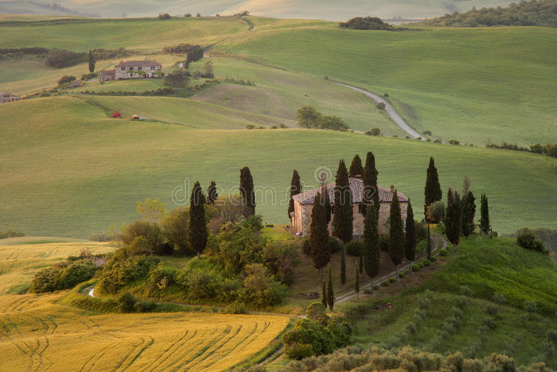 Villa della Toscana fotografia stock