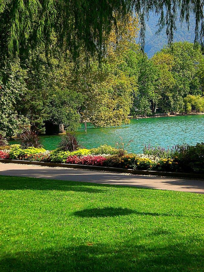 Villa di Ciani a Lugano fotografie stock libere da diritti
