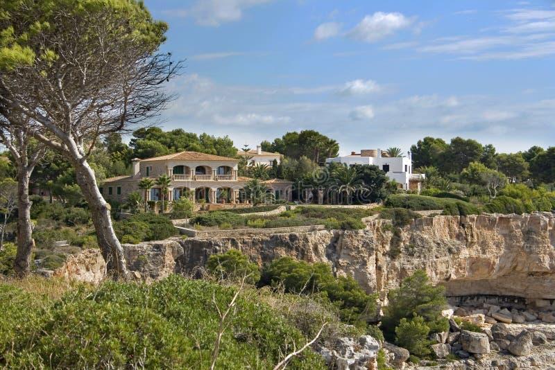 Villa Di Festa In Majorca Fotografia Stock