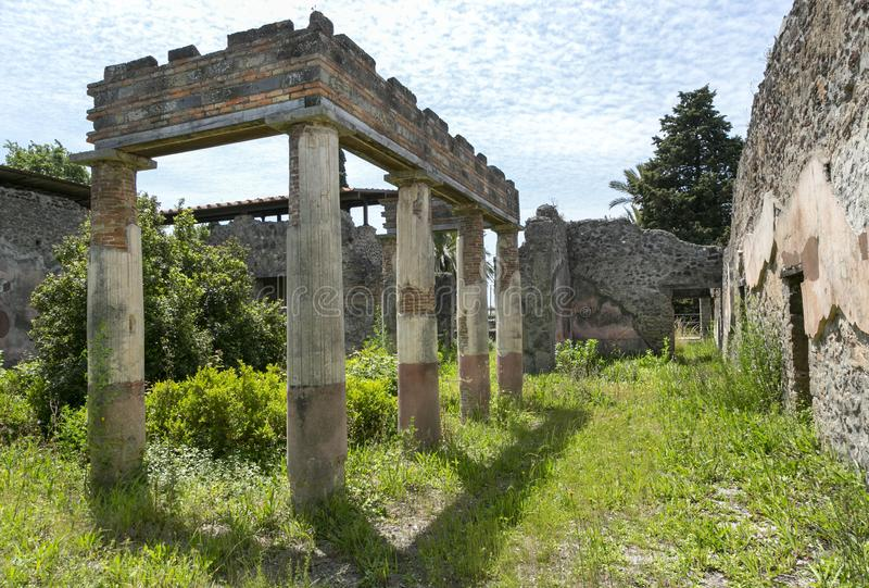 Villa of Diomedes, Archeological Park of Pompeii, Italy royalty free stock photo
