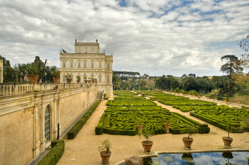 Villa Doria Pamphili stock photo