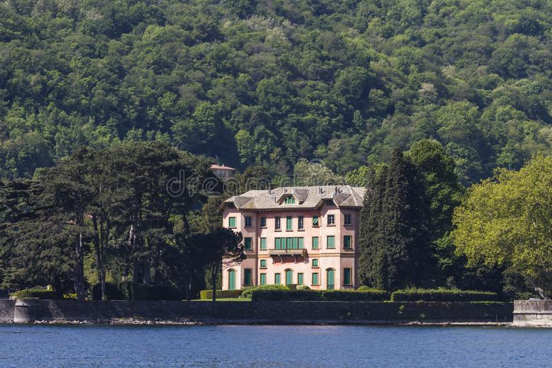 Villa Dozzio in Cernobbio, Italië stock afbeeldingen