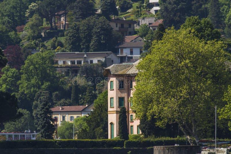 Villa Dozzio in Cernobbio, Italië royalty-vrije stock fotografie