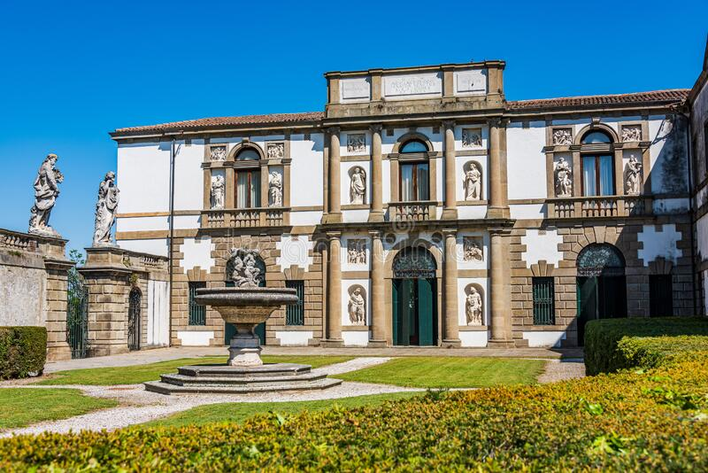Villa Duodo in Monselice royalty free stock photography