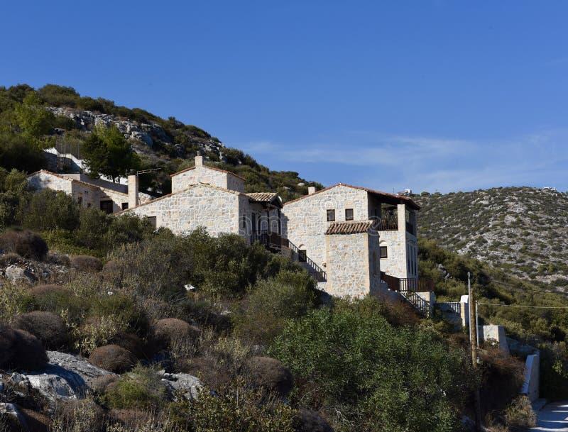 Villa en pierre de château photographie stock libre de droits