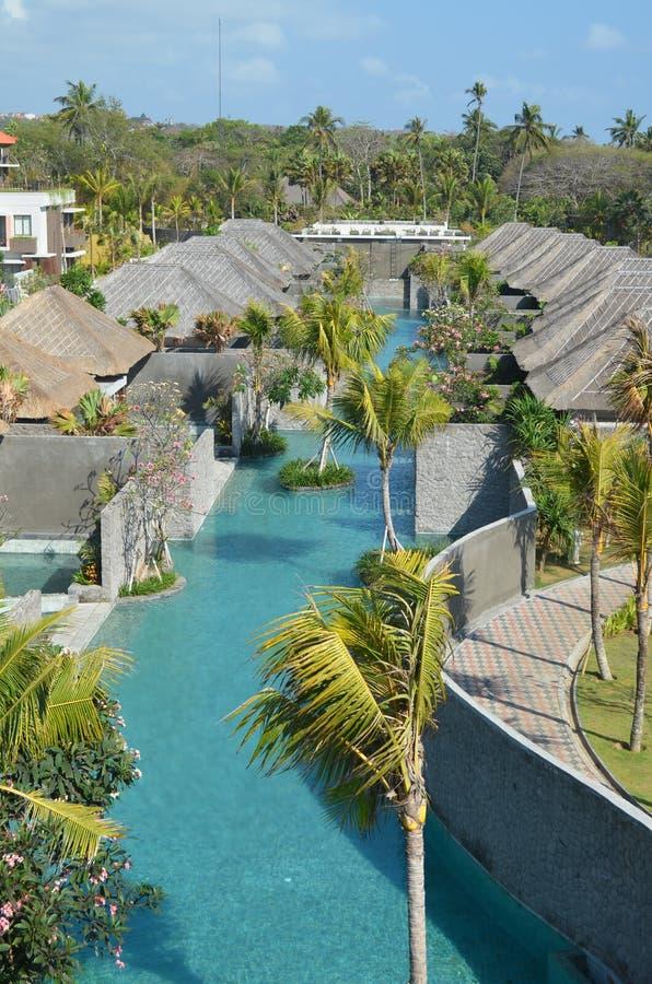 Villa en Toevlucht Bali royalty-vrije stock foto's