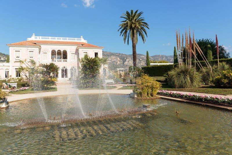 Villa Ephrussi de Rothschild arkivbild