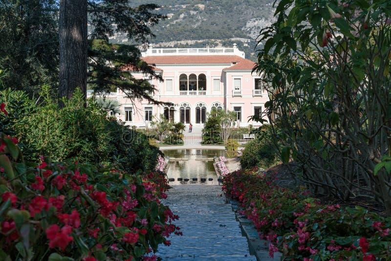 Villa Ephrussi de Rothschild royaltyfria bilder