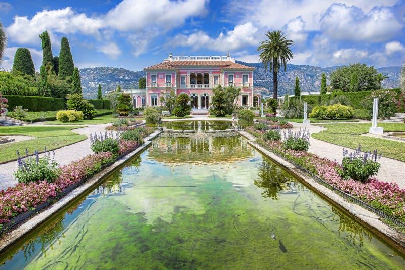 Villa Ephrussi de Rothschild. Also called villa ÃŽle-de-France, is a French seaside villa located at Saint-Jean-Cap-Ferrat on the French Riviera stock photo