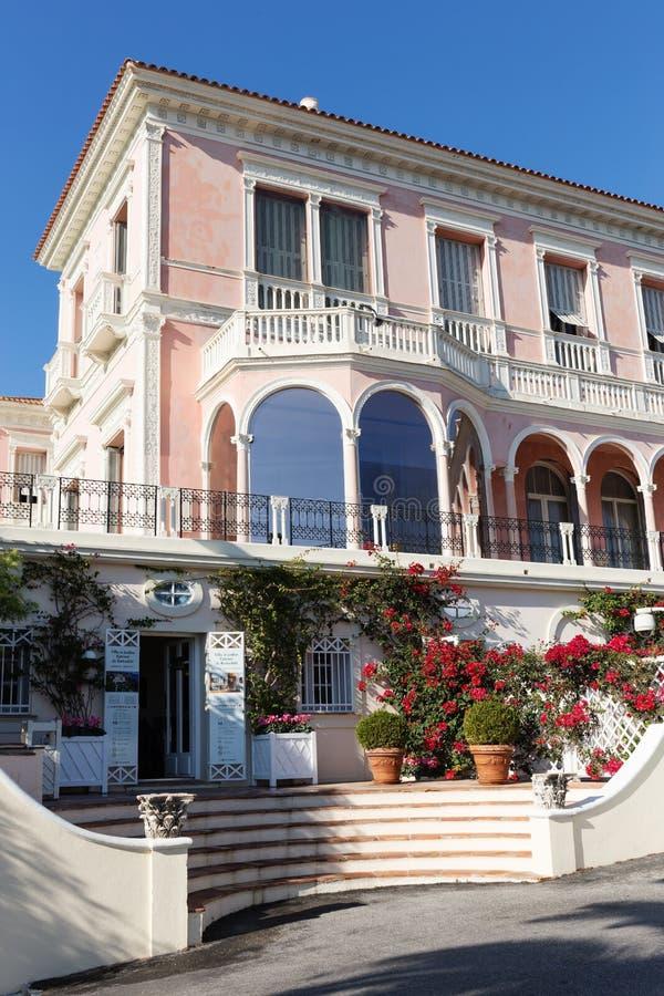 Villa Ephrussi de Rothschild. CAP FERRAT, FRANCE - OCTOBER 29, 2014: Villa Ephrussi de Rothschild stock image