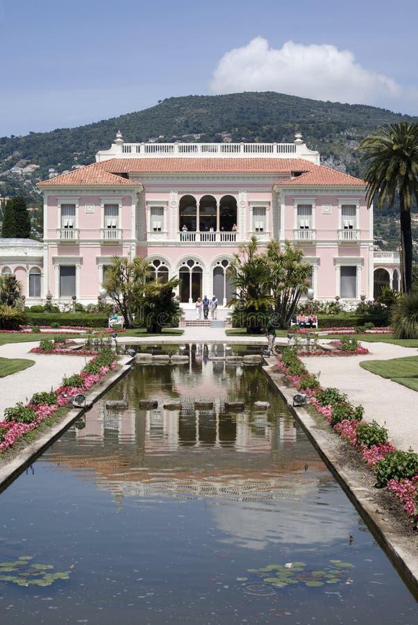Villa Ephrussi de Rothschild, franska Riviera arkivfoton