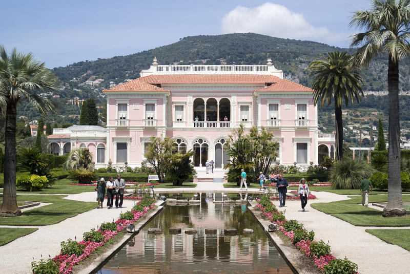 Villa Ephrussi de Rothschild, franska Riviera royaltyfri foto