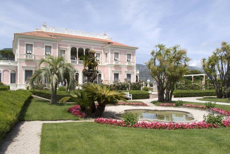 Villa Ephrussi de Rothschild, französisches Riviera lizenzfreies stockbild