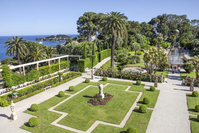 Villa Ephrussi de Rothschild, Heilig-Jean-Kappe-Ferrat stockbild