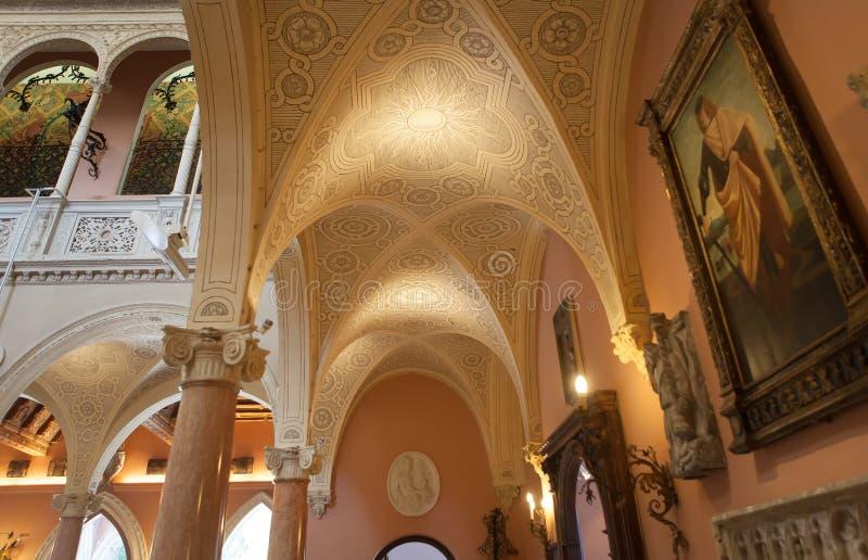 Villa Ephrussi de Rothschild, helgon capFerrar Jean, Frankrike fotografering för bildbyråer