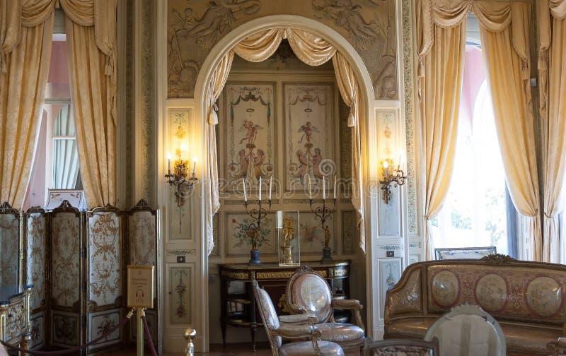 Villa Ephrussi de Rothschild, helgon capFerrar Jean, Frankrike royaltyfria bilder