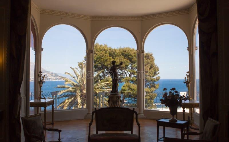Villa Ephrussi de Rothschild, helgon capFerrar Jean, Frankrike arkivbilder