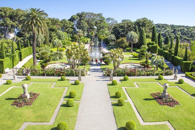 Villa Ephrussi de Rothschild, Helgon-Jean-lock-Ferrat arkivfoton