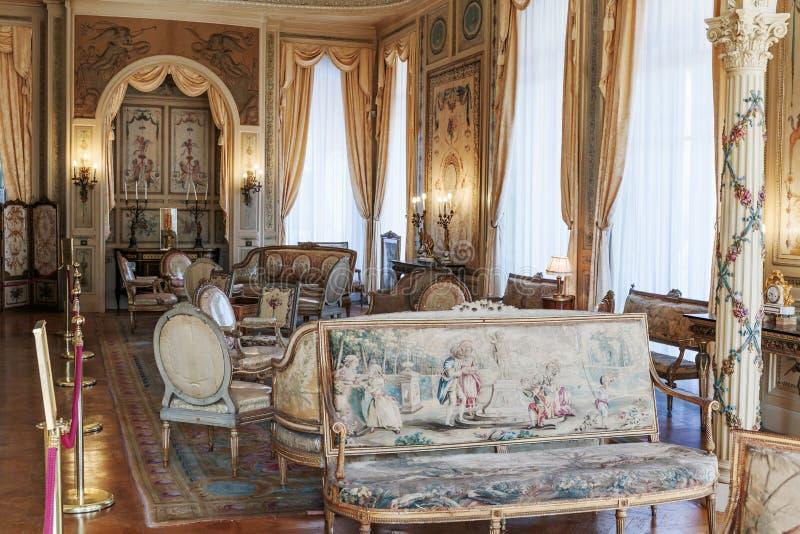 Villa Ephrussi de Rothschild inre arkivfoton