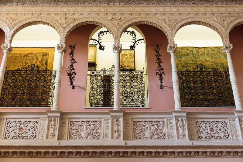 Villa Ephrussi de Rothschild inre royaltyfria foton