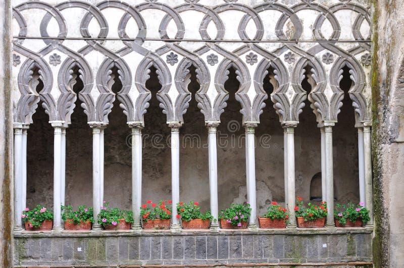 villa för rufolo för amalfi kustitalia ravello royaltyfri fotografi