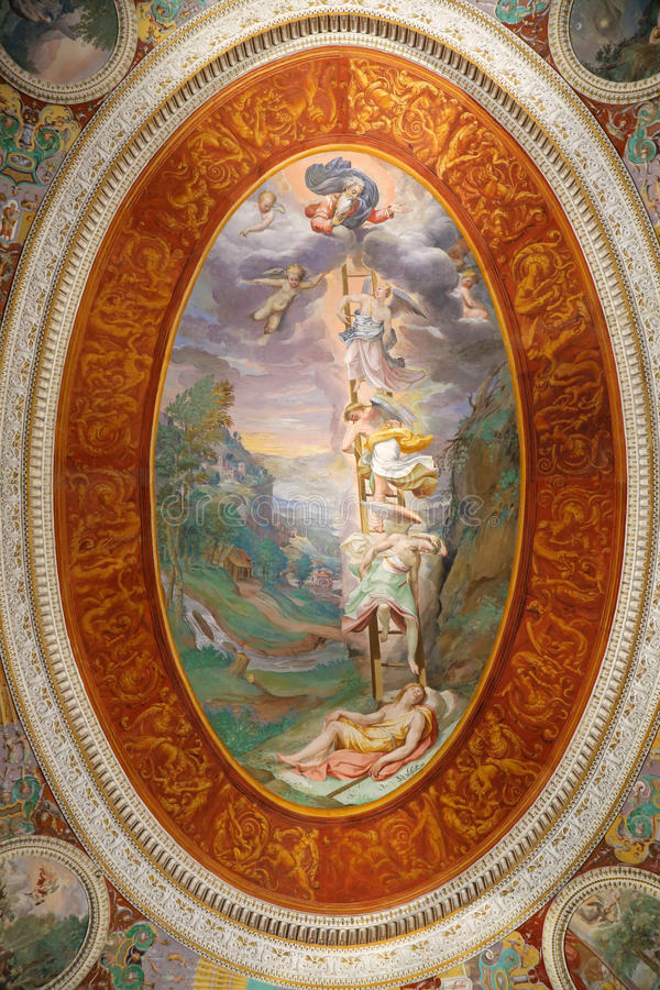 Villa Farnese - pièce des rêves image stock