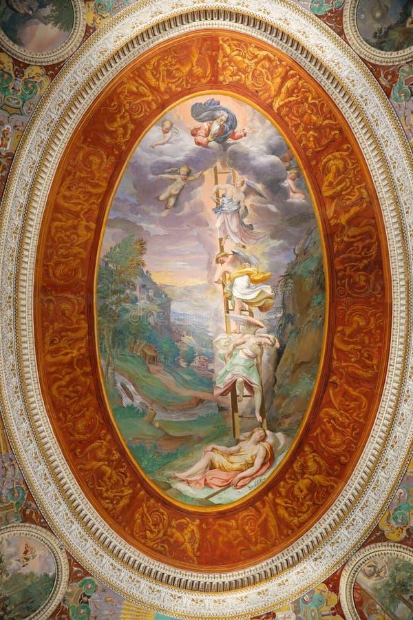 Villa Farnese - rum av drömmar fotografering för bildbyråer