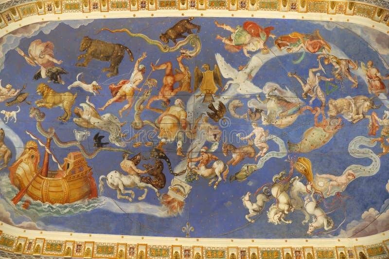 Villa Farnese - Zaal van de Wereldkaart royalty-vrije stock fotografie