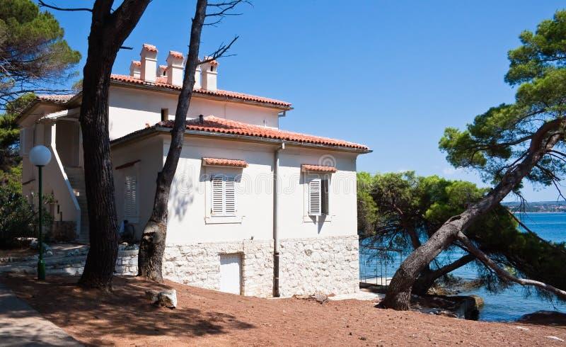 Villa Fazanka. Brijuni. Kroatien royaltyfria foton