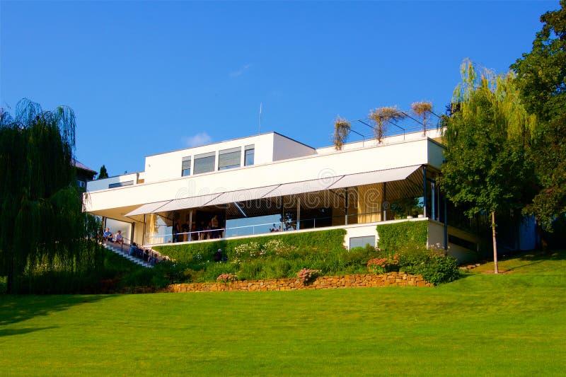 Villa fonctionnaliste Tugenthat à Brno dans la République Tchèque photos stock