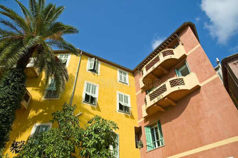 Villa on the french riviera stock image