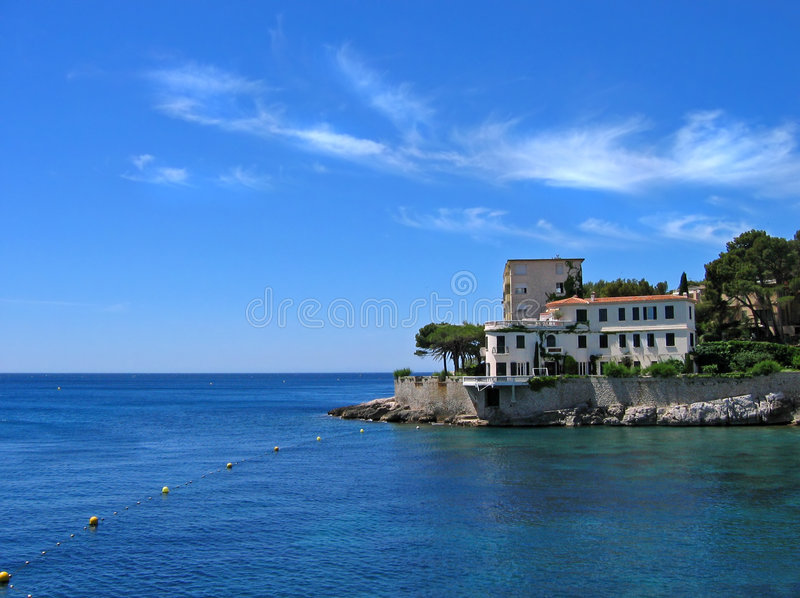 Villa on french riviera stock photography