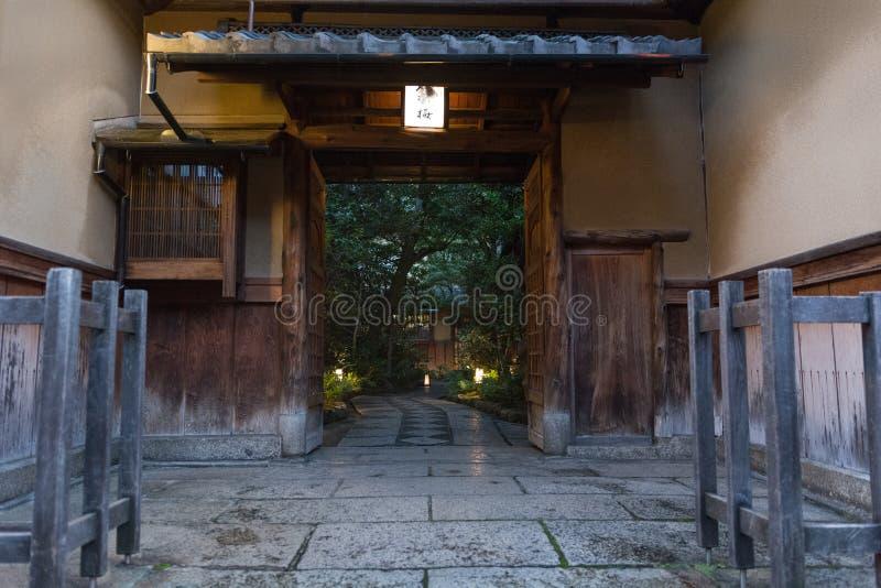 Villa giapponese tradizionale nel Giappone, fatto da legno immagine stock