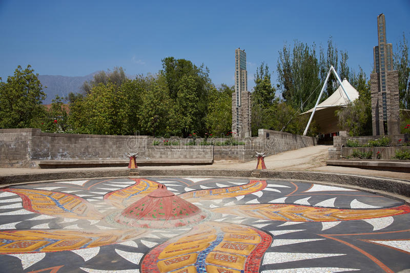 Villa Grimaldi. In Santiago, Chile. Memorial park to the people who were detained and tortured during the 1970's in the prison camp located on this site during royalty free stock image