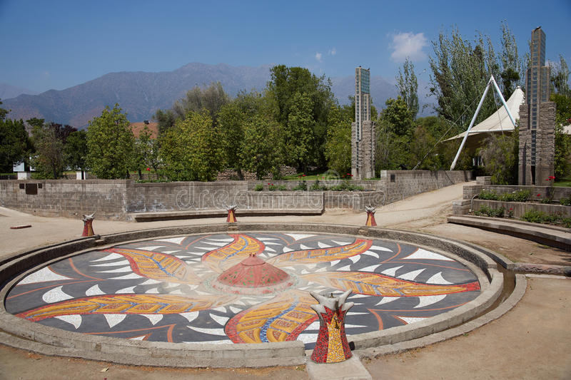Villa Grimaldi. In Santiago, Chile. Memorial park to the people who were detained and tortured during the 1970's in the prison camp located on this site during stock photos