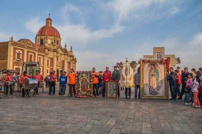 Pilgrimage originally from the Boxtha region, Hidalgo, Mexico. royalty free stock photo