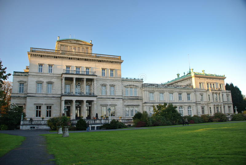 Villa Hügel, Essen, Duitsland stock foto's