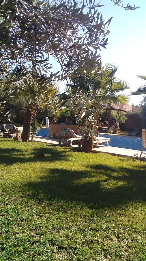 Villa i Marrakech royaltyfria bilder