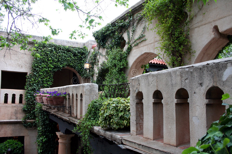 Villa Ivy-Covered photographie stock