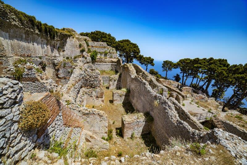 Villa Jovis, Capri-Eiland royalty-vrije stock fotografie