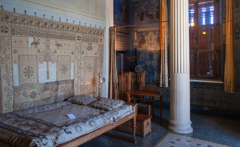 Villa Kerylos, Beaulieu sur mer, Frankrijk, binnenland en details royalty-vrije stock fotografie