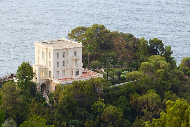Villa La Vigie, one of the famous villa on French riviera, Monaco stock photos
