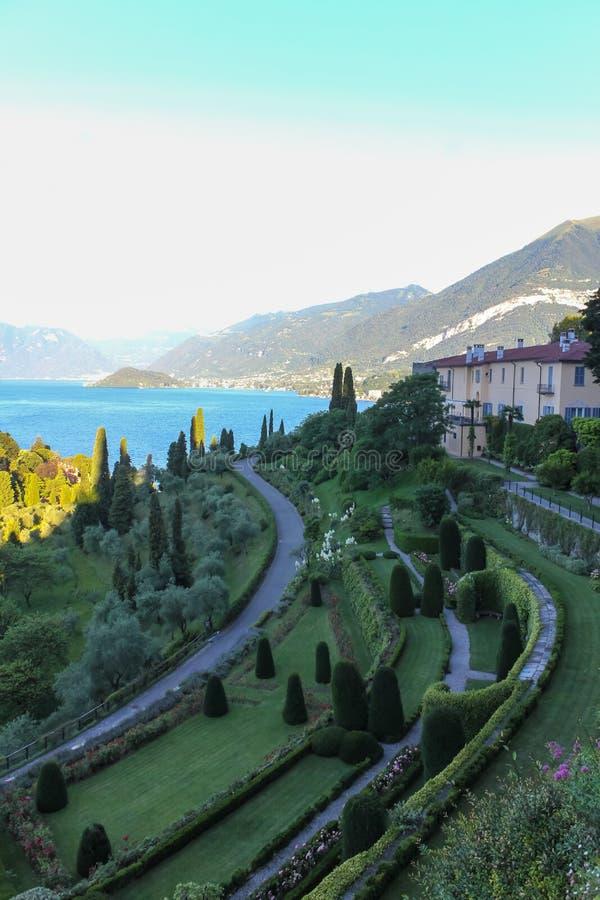 Villa in lago Como immagini stock libere da diritti