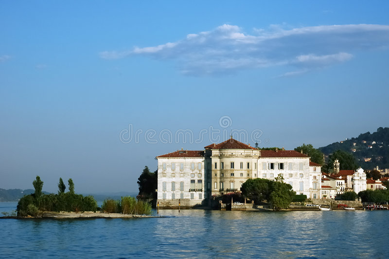 villa lake obraz stock