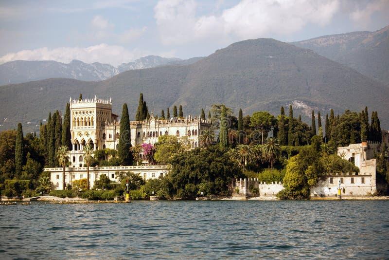 Villa at the lake Garda royalty free stock photography