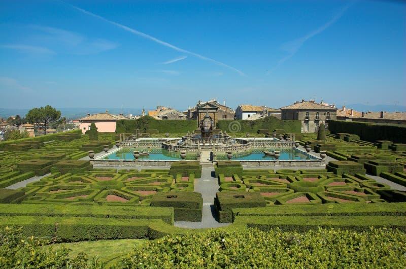Villa Lante, italian gardens stock photos